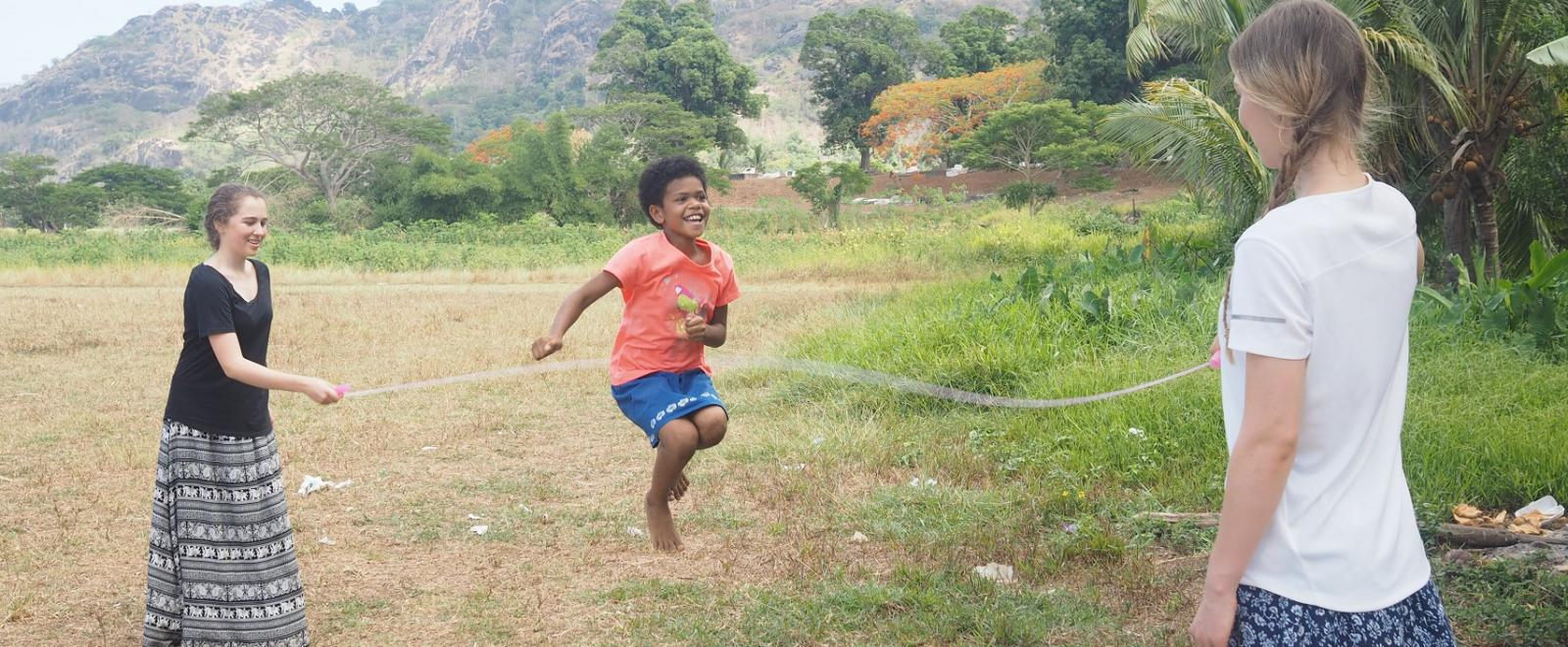 Two sisters volunteer with Projects Abroad on the Fiji Childcare Project